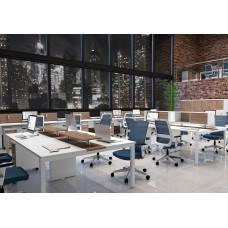 Plataforma de Trabalho Office BA c/ Mezanino e Armário (VM901)
