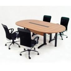 Mesa de Reunião Oval Bi-Partida Genius (Vm460)